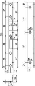 Winkelschliessbleche GLUTZ B-1308