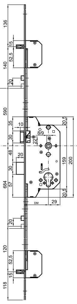 Serrures de sécurité à mortaiser MSL BiTribloc 1854 verrouillage multipoints