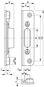 Lastrine di chiusura per serrature d'infilare antipanico SECURY-Automatic2110 / 2116