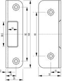 Controcartelle angolari per serrature d'infilare antipanico SECURY-Automatic2110 / 2116