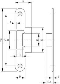 Controcartelle a labbro per serrature d'infilare antipanico SECURY-Automatic2110 / 2116