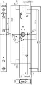 Contro-serrature d'infilare antipanico B-19900