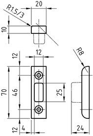 Kappenschliessbleche GLUTZ B-1131