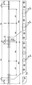 Einfräs-Schliessleisten GLUTZ B-1157 / B-1156