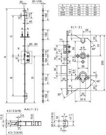 Serrures multipoints GLUTZ MINT 18991 SV NF