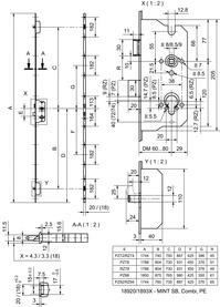 Serrures multipoints GLUTZ MINT 18920 SB PE