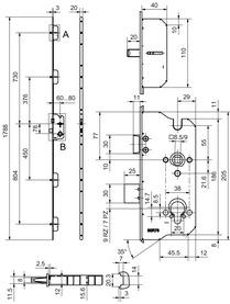 Serrures multipoints GLUTZ MINT 18983 Combi (à 1 tour)