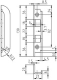 Winkel-Riegelschliessbleche GLUTZ B-1153