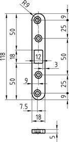 Riegel-Flachschliessbleche GLUTZ B-1155