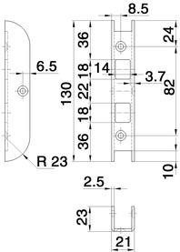 Renovationsschliessbleche GLUTZ B-1153 für Fräslehre MUCK SBFL 32