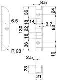 Gâches de rénovations GLUTZ B-1153 pour gabarits de fraisage MUCK SBFL 32