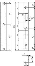 Winkelschliessblech GLUTZ B-1120