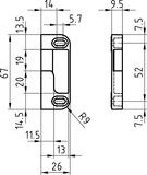 Gâches pour tourillons à galet GLUTZ B-715/716 et B-713/714