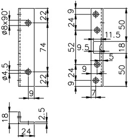 Lastrine di chiusura per catenacci a perni MSL 1877/18