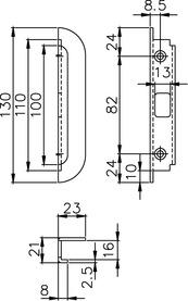 Lastrine di chiusura per catenacci a perni MSL 1877.15/21