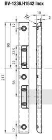 Controcartelle profilate d'incassare MSL ProfiFlex BV-1236