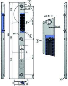 Kit di controcartelle profilate d'incassare MSL ProfiFlex BV-24421