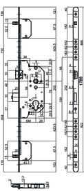 Serrures de sécurité à mortaiser MSL PANIK TRIBLOC 1859 PBa-ZF