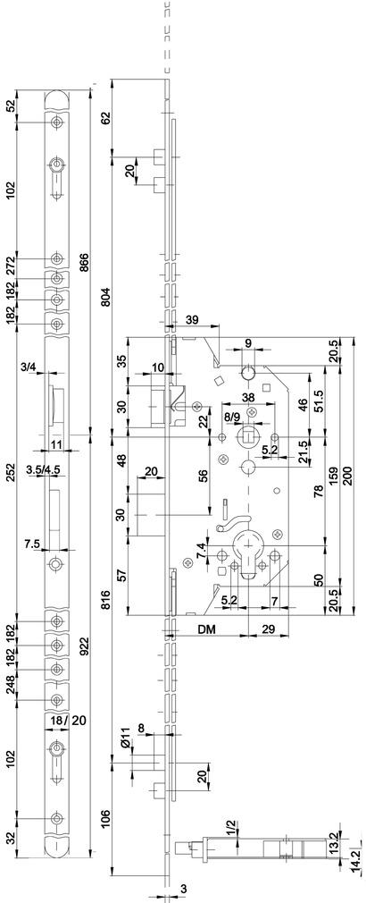 Verrouillage multipoints MSL ROLLTRIBLOC 1857
