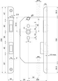 Contre-serrures à bascule MSL CASA-Alpha 1713 avec têtière équerre
