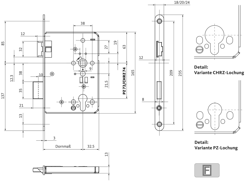 Einsteckschlösser BKS B-12060