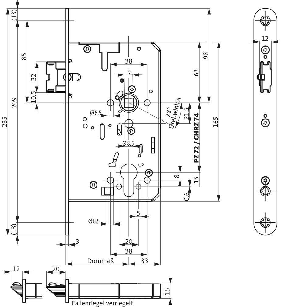 Panikschlösser BKS B-21160 SVP