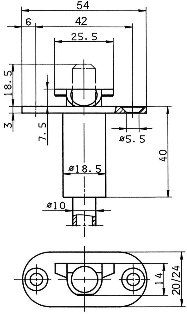 Loqueteau automatique BKS 1895
