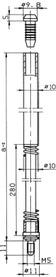 Tringles pour serrures à levier BKS 9036