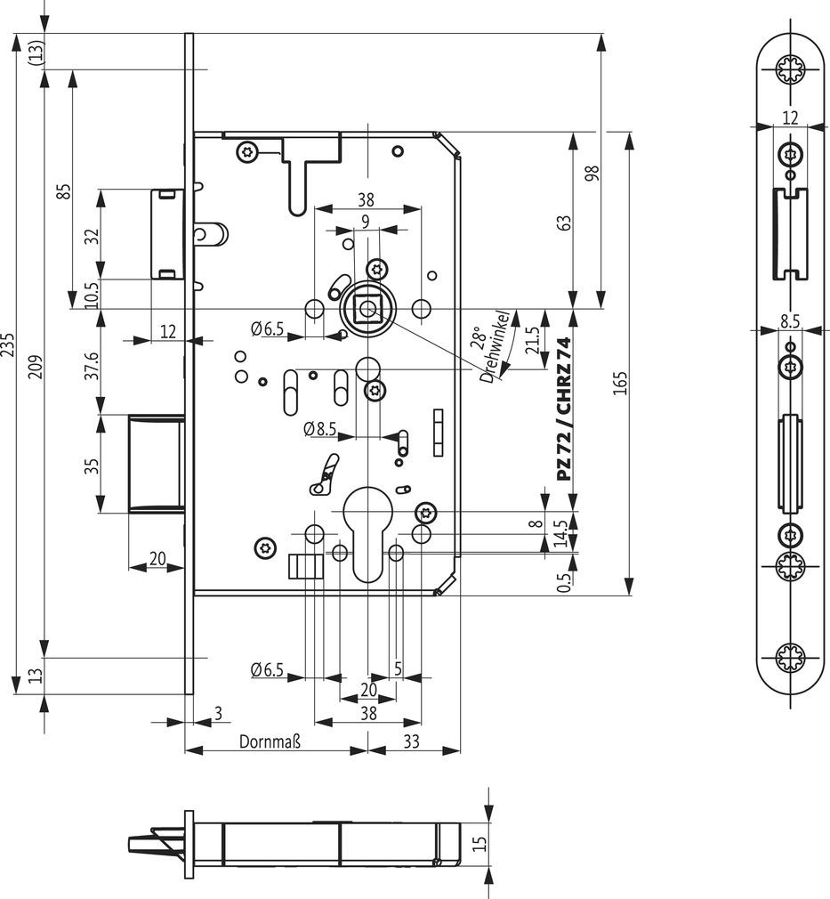 Panikschlösser BKS B-23200