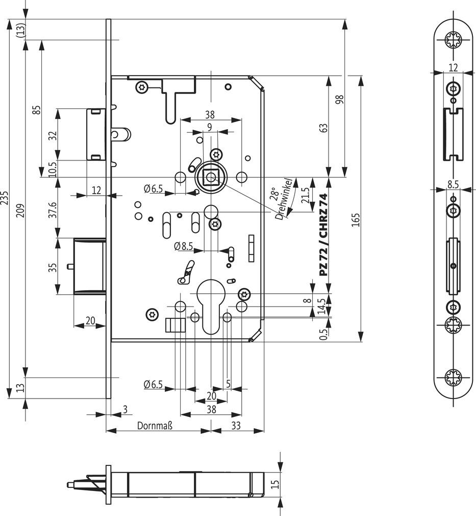 Panikschlösser BKS B-23210