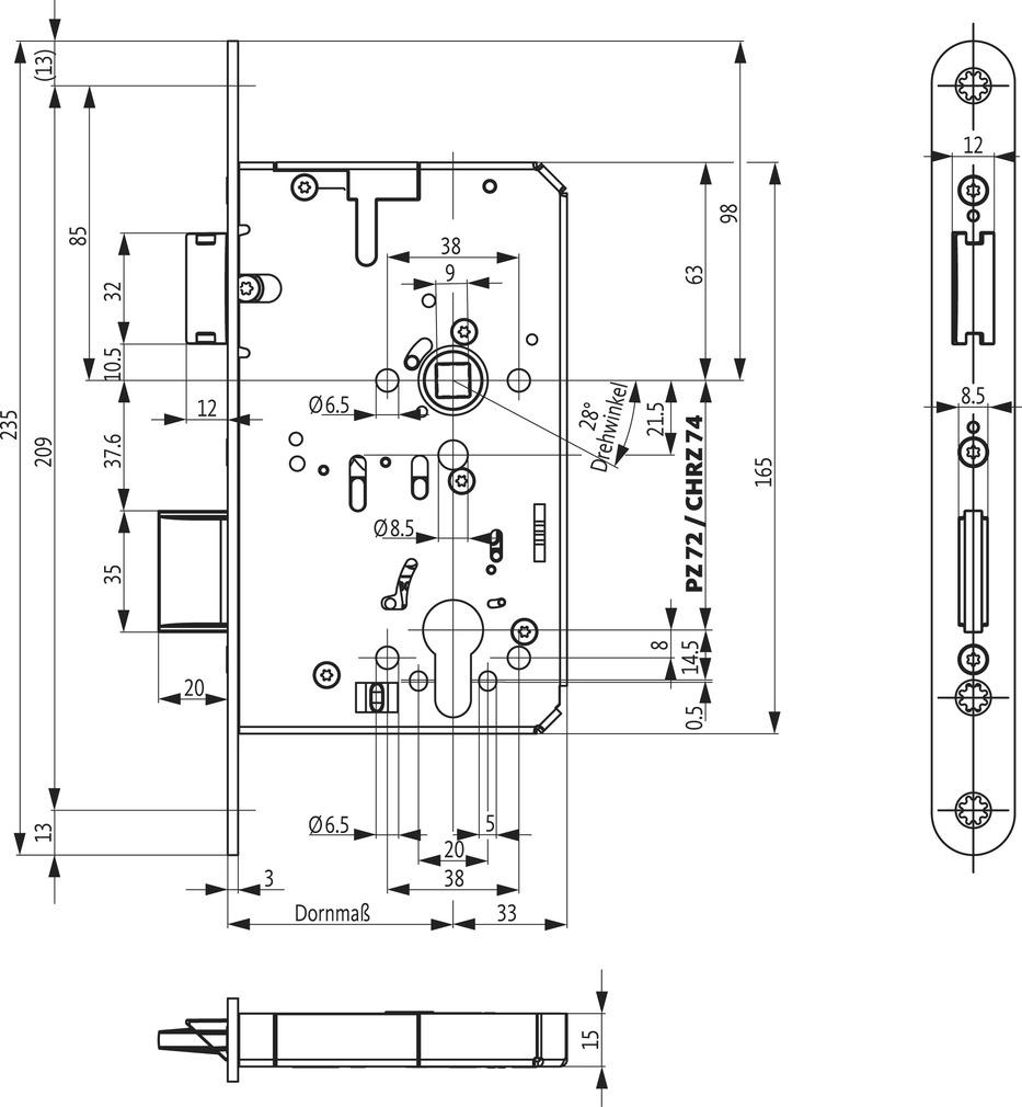Panikschlösser BKS B-23260