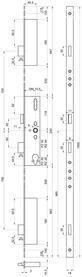 Serrures de sécurité à mortaiser MSL FlipLock 23421 Basisverrouillage multipoints