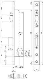 Serratura d'infilare con cricca a rullo di sicurezza telaio tubolare MSL DELTA 19424