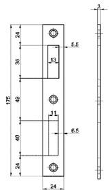Controcartelle piane MSL B-1921