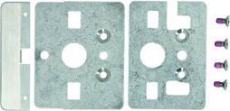 Kit montaggio legno INOX per maniglioni antipanico MSL eBar
