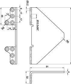 Staffa di protezione per scatola MSL eBar 5988