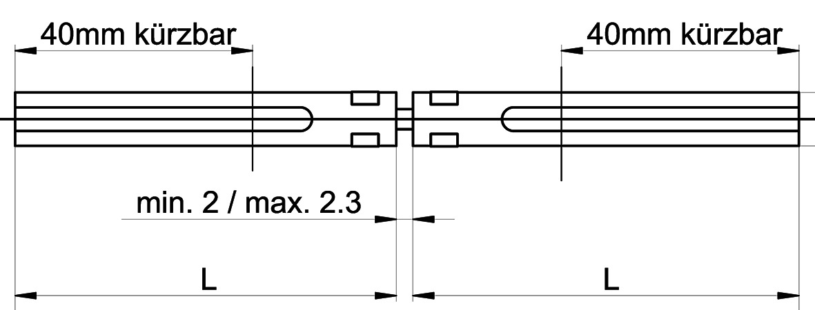 Perni di raccordo MSL 5968 per serrature EFF-EFF