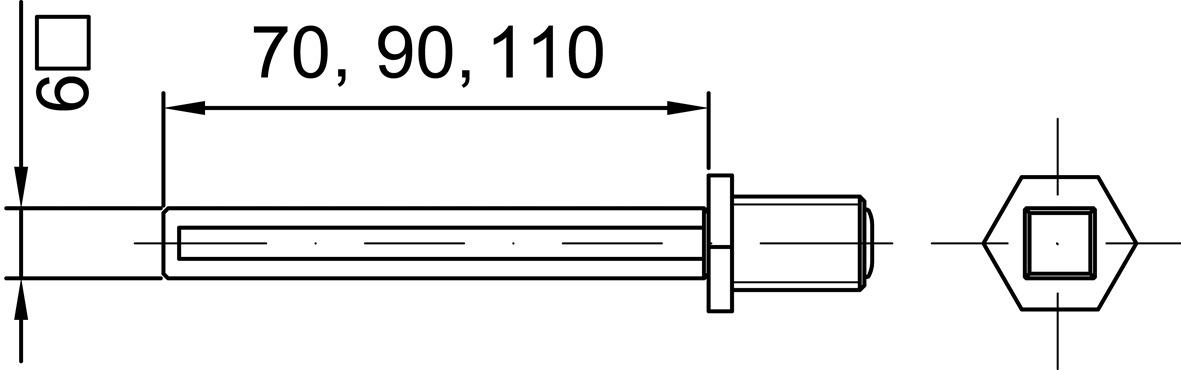 Tiges d'assemblage MSL 5496