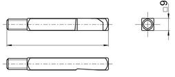 Perni quadro per maniglie da un solo lato BKS