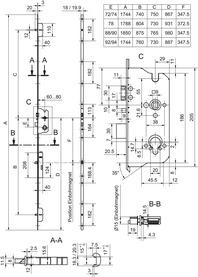 Serrures verrouillage multipoints GLUTZ MINT 18947 SVM eco PE