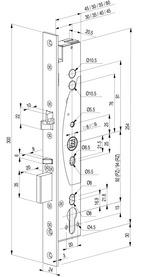 Serrures antipaniques mécaniques à verrouillage automatique eff-eff 309X