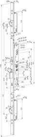 Serrures anti-panique multipoints à verrouillage automatique eff-eff 329X mécanique