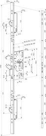 Serrures anti-panique multipoints à verrouillage automatique eff-eff 529X version motorisée