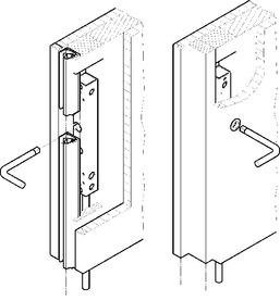Schiebetür-Stangenverschlüsse HAWA-Doorfix