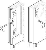 Serrures à tringles pour portes coulissantes HAWA-Doorfix