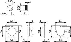 Kit per porte scorrevoli HOPPE M443-Set 5