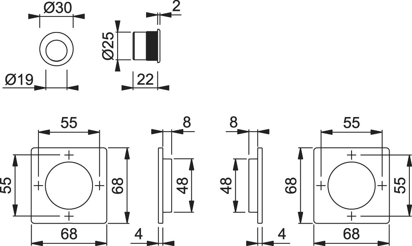 Jeu pour portes coulissantes HOPPE M443-Set 5