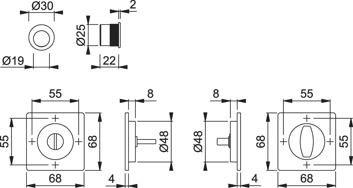 Jeu pour portes coulissantes HOPPE M443-Set 2