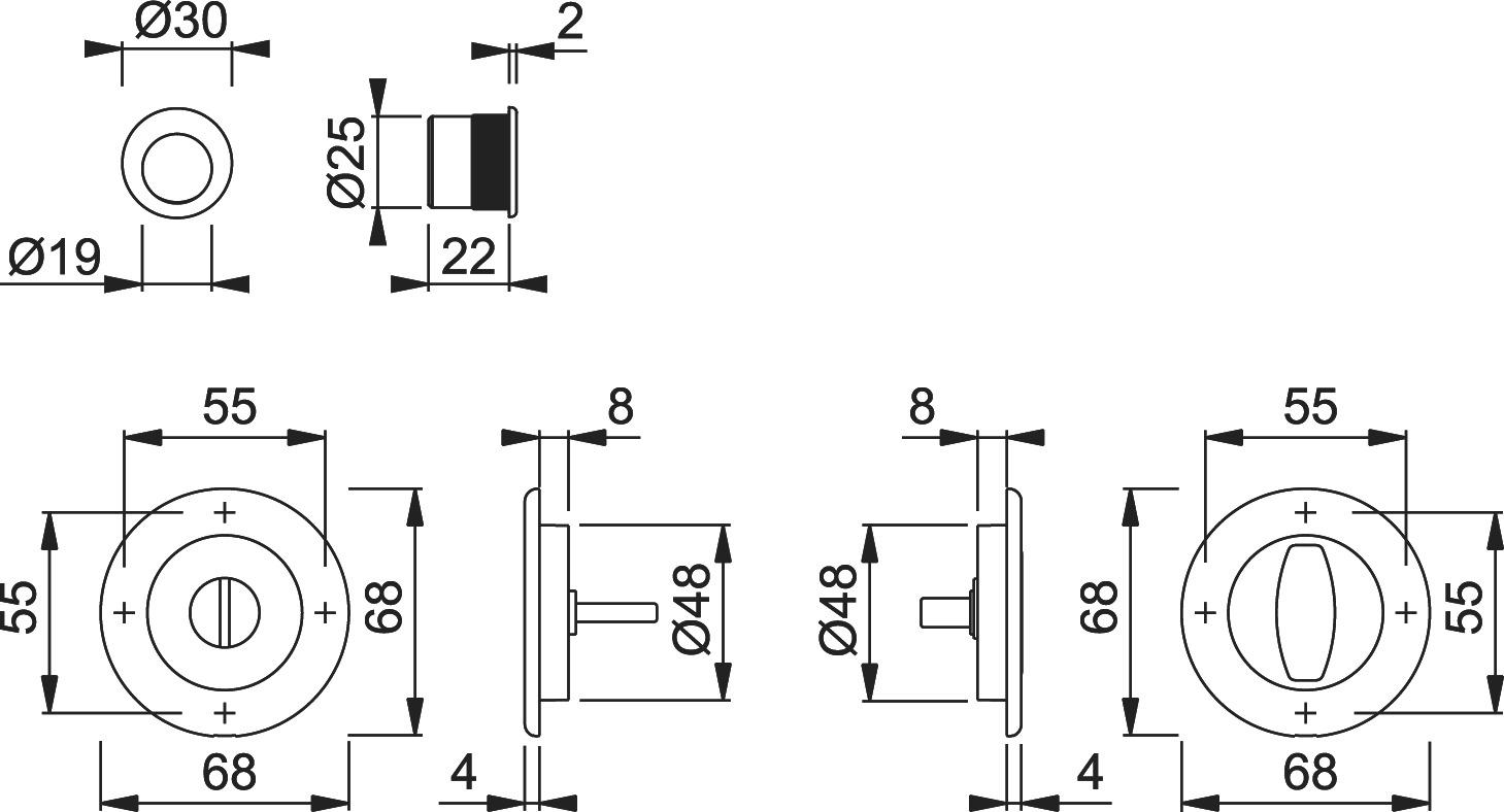 Jeu pour portes coulissantes HOPPE M471-Set 2