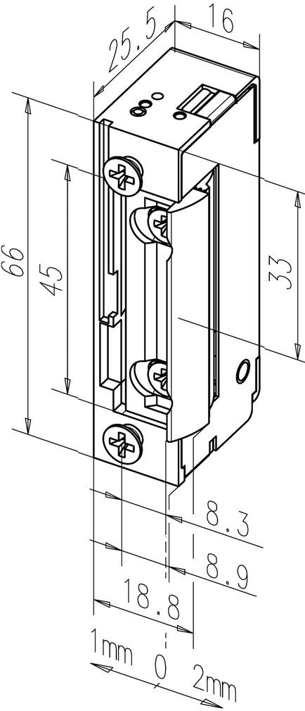 Gâches électriques eff-eff 138 FaFix avec demi-tour radial